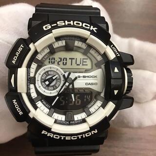 カシオ(CASIO)のカシオ G-SHOCK ブラック・ホワイト GA-400-1AJF アナデジ(腕時計(アナログ))