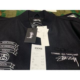 コムデギャルソン(COMME des GARCONS)の込み CDG X Stussy Varsity Jacket 黒L 美USED(スタジャン)