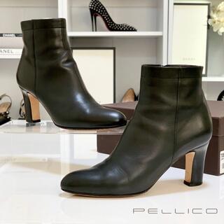 PELLICO - 2179 ペリーコ レザー ショートブーツ 黒