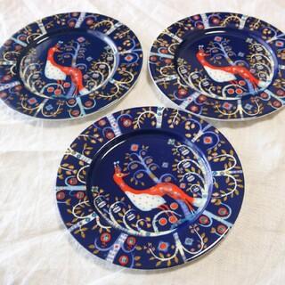 イッタラ(iittala)のiittalaタイカプレート22cm三枚セットブルー(食器)