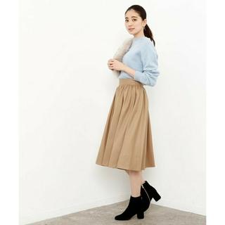 ロペ(ROPE)のロペマドモアゼル ROPE☆ソフトジョーゼットギャザースカート(ひざ丈スカート)