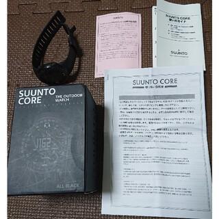 スント(SUUNTO)のSUUNTO CORE スントコア オールブラック(腕時計(デジタル))