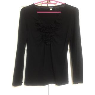 ミッシェルクラン(MICHEL KLEIN)のMICHEL KLEIN❤️胸元が素敵な薄手のセーター?カットソー❤️(カットソー(長袖/七分))