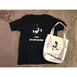 ディズニー(Disney)のpool aoyama✖️Disney✖️T shirt✖️tote bag(Tシャツ/カットソー(半袖/袖なし))