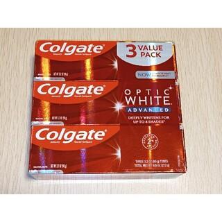 コルゲート オプティックホワイト Advanced 歯磨き粉 ×3(歯磨き粉)