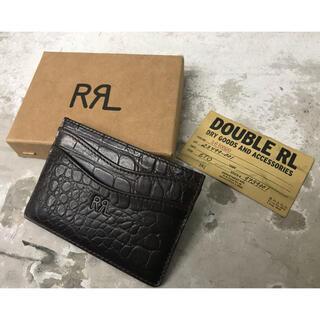ダブルアールエル(RRL)のDOUBLE RL ダブルアールエル ラルフローレン レザー カードケース(名刺入れ/定期入れ)
