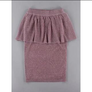 イーハイフンワールドギャラリーボンボン(E hyphen world gallery BonBon)のイーハイフン ペプラムスカート(ひざ丈スカート)
