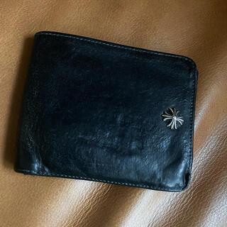 クロムハーツ(Chrome Hearts)のクロムハーツ 二つ折り財布 レザー ウォレット カードケース 黒 (折り財布)
