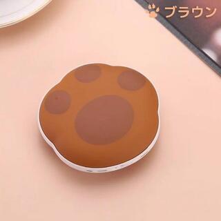 ブラウン&ブルー 充電式カイロ 肉球 湯たんぽ 冷え性寒さ対策 ハンドウォーマー(電気ヒーター)