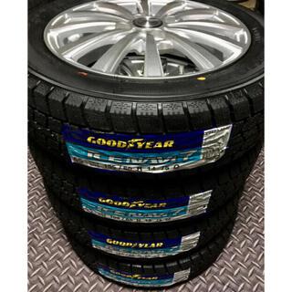 グッドイヤー(Goodyear)の「155/65R14」新品冬用タイヤと中古美品ホイールと新品ナット付き(タイヤ・ホイールセット)