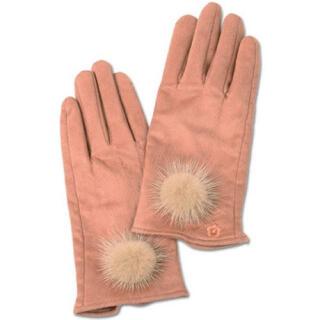 マリークワント(MARY QUANT)の新品 マリークワント スエード手袋 ミンクファー ピンク(手袋)