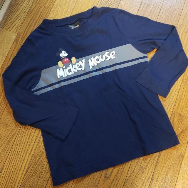 GU(ジーユー)のGU ミッキーロンティー 110 キッズ/ベビー/マタニティのキッズ服男の子用(90cm~)(Tシャツ/カットソー)の商品写真