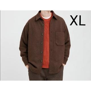 ユニクロ(UNIQLO)の新品タグ付き ユニクロ オーバーシャツジャケット Darkbrown XL(テーラードジャケット)