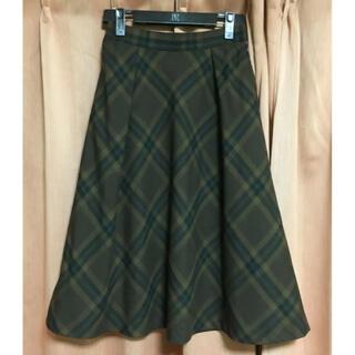 ストロベリーフィールズ(STRAWBERRY-FIELDS)のストロベリーフィールズ チェック スカート (ひざ丈スカート)