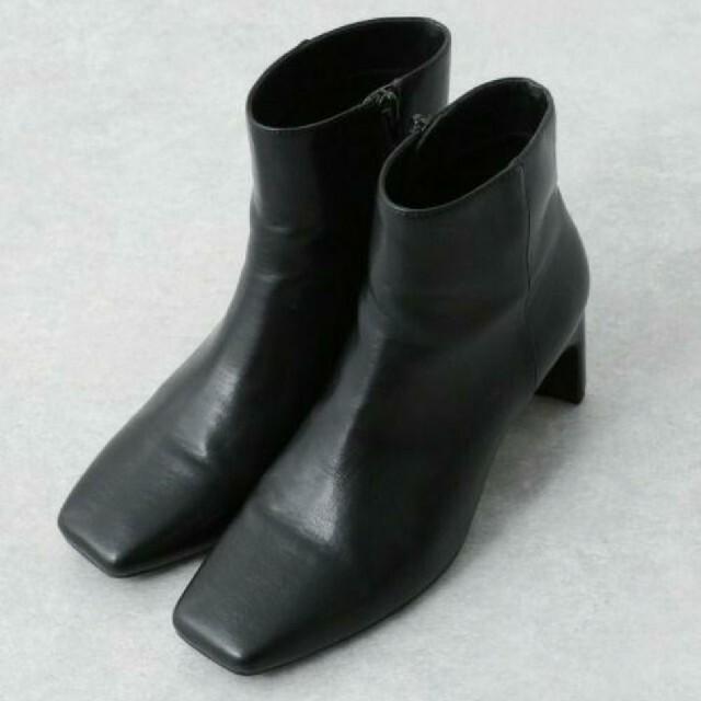 apart by lowrys(アパートバイローリーズ)のapart by lowrys  Fレザースクエアトゥブーツ レディースの靴/シューズ(ブーツ)の商品写真