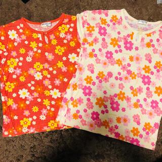 ブランシェス(Branshes)のブランシェス 100~110 お花柄トップスセット(Tシャツ/カットソー)