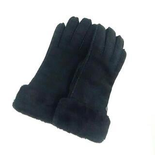 アグ(UGG)のアグ 手袋 M レディース美品  黒 ムートン(手袋)