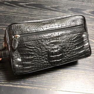【最終値下げ】ワニ革  本革  セカンドバッグ  メンズ(セカンドバッグ/クラッチバッグ)