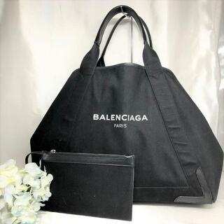 バレンシアガ(Balenciaga)のバレンシアガ トートバッグ ネイビーカバス M 黒×黒(トートバッグ)