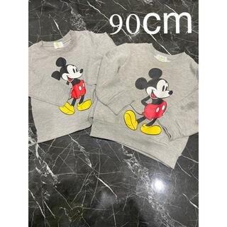 ディズニー(Disney)のミッキー ロンTとトレーナー 90cm(Tシャツ/カットソー)