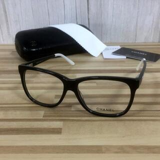 シャネル(CHANEL)の シャネル メガネ 黒白フレーム ココマーク3230(サングラス/メガネ)