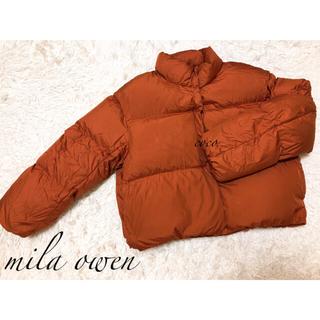 ミラオーウェン(Mila Owen)のmilaowen☆裾リボンダウンジャケット(ダウンジャケット)