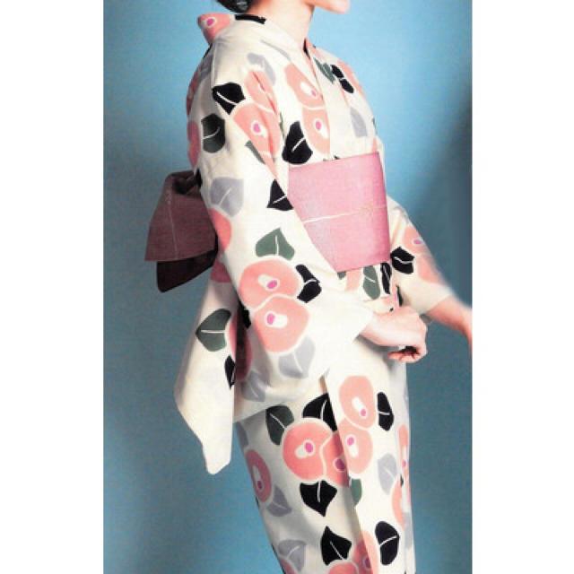 ピンク 椿❤️浴衣 レディースの水着/浴衣(浴衣)の商品写真