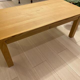 ムジルシリョウヒン(MUJI (無印良品))の(Vちゃんさん様専用)無印良品 無垢材ローテーブル・タモ材(ローテーブル)