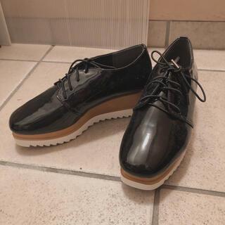ザラ(ZARA)の新品未使用 プラットフォームシューズ(ローファー/革靴)