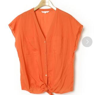アナイ(ANAYI)のANAYI ブラウス カットソー 裾 リボン38サイズ(シャツ/ブラウス(半袖/袖なし))