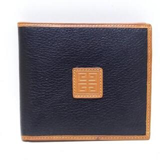 ジバンシィ(GIVENCHY)のジバンシー 2つ折り財布 - 黒×ブラウン(財布)