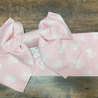 浴衣 帯 花柄 ピンク(浴衣帯)