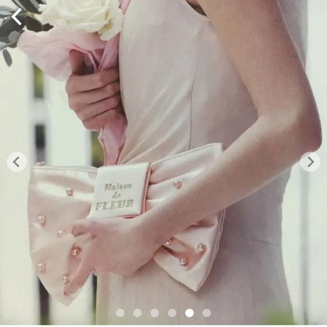 Maison de FLEUR(メゾンドフルール)の【新品.タグ付き】♡メゾンドフルール♡リボンパールクラッチバッグ♡ レディースのバッグ(クラッチバッグ)の商品写真