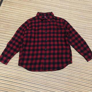 ユニクロ(UNIQLO)のユニクロ チェックシャツ ネルシャツ 110センチ(ブラウス)