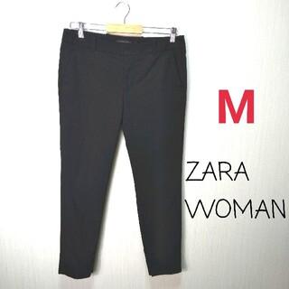ザラ(ZARA)のZARA ザラウーマン◎リクルート クロップドパンツ(M)◎黒 仕事着(クロップドパンツ)