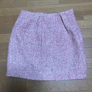 アンレリッシュ(UNRELISH)の美品 ツイードスカート ミニスカート ピンク UNRELISH アンレリッシュ(ミニスカート)