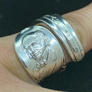 アンティーク リング スプーンリング 9号 調節可 ビューレン 大統領 1289(リング(指輪))