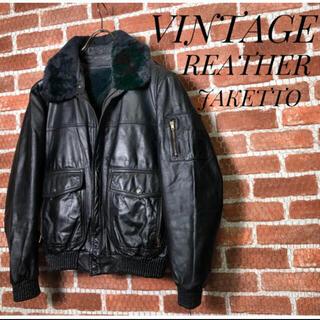 アルファ(alpha)のレザージャケット vintage  古着(フライトジャケット)