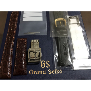 Grand Seiko - 極美品❗️グランドセイコー dバックル クロコダイル ベルト 尾錠 バックル