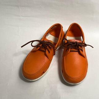 crocs - crocs メンズ シューズ 28cm M10 オレンジ デッキシューズ