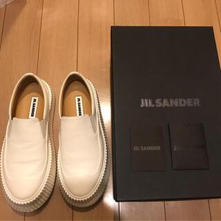 ジルサンダー(Jil Sander)のジルサンダー  JILSANDER メンズ スニーカー スリッポン レザー 白 (スニーカー)