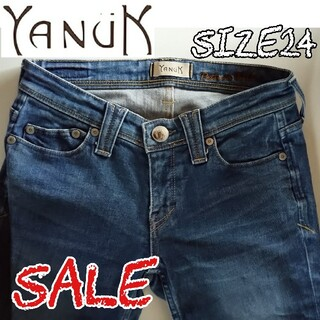 ヤヌーク(YANUK)のYANUK ヤヌーク アンクル スキニー デニムパンツ 24 (スキニーパンツ)