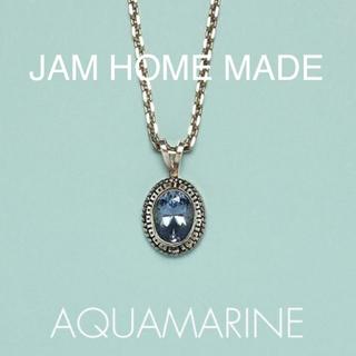 ジャムホームメイドアンドレディメイド(JAM HOME MADE & ready made)のJAM HOME MADEアクアマリンハイブリッドカレッジリングネックレス(ネックレス)