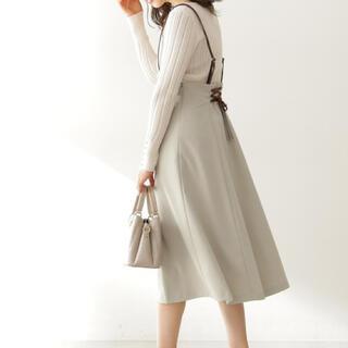 プロポーションボディドレッシング(PROPORTION BODY DRESSING)の美品 2wayジャンパースカート インデックス MISCH MASCH 会社(ひざ丈スカート)