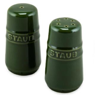 ストウブ(STAUB)の✨新品・未使用✨staub ソルト&ペッパー(バジルグリーン)(収納/キッチン雑貨)