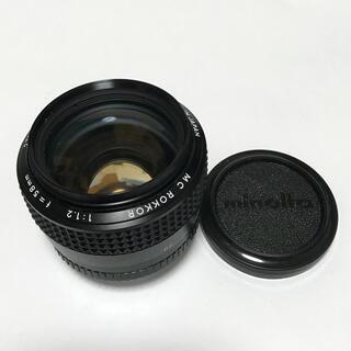 コニカミノルタ(KONICA MINOLTA)のミノルタ MINOLTA MC ROKKOR 1:1.2 f=58mm 単焦点(レンズ(単焦点))