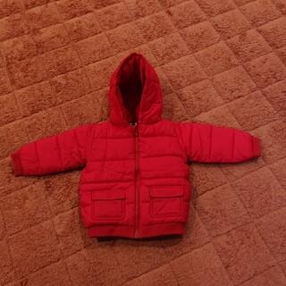 プチバトー(PETIT BATEAU)のプチバトー 赤 コート 81cm(ジャケット/コート)