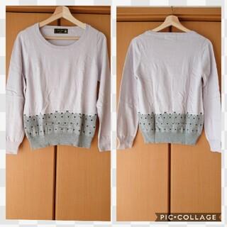 フランシュリッペ(franche lippee)のリボン×ドット柄セーター(ニット/セーター)
