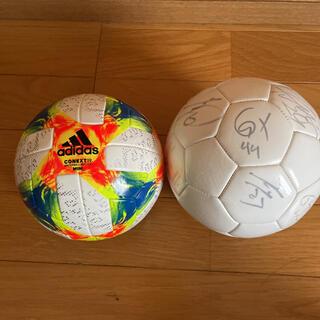 アディダス(adidas)の2017年名古屋グランパス全選手サイン入りボール、フットサルボール(ボール)