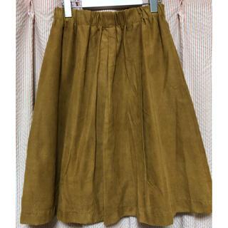 プラステ(PLST)の膝丈スエードスカート(ひざ丈スカート)